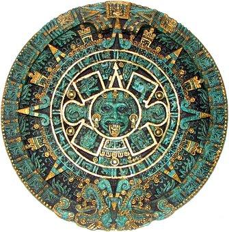 Aztec, Calendar, Round, Disc, Historic, Old, Ancient