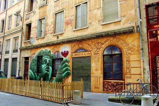 Theater, Lyon, France, Historic Center, City