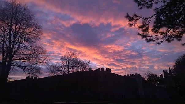 Sky, Castle, Red, Orange, Landmark, Travel, Europe