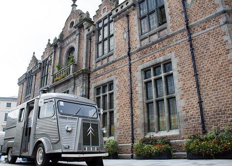 Citroen, Van, Vehicle, Lorry, Retro, Building, History