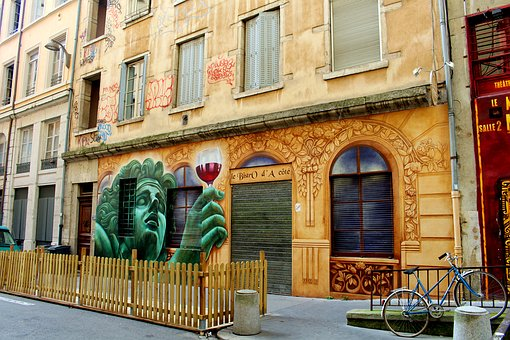 Theater, Lyon, France, Old Town, City, Architecture