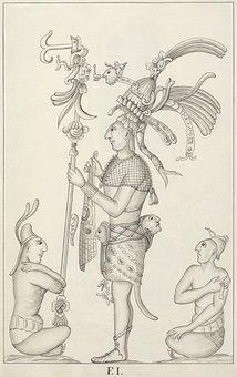 Maya, Aztecs, Mexico, Drawing, Palenque, 1787