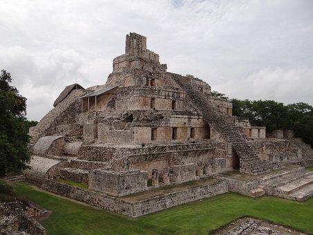 Maya, Mayan, Ancient, Mexico, Temple, Stone, Yucatan