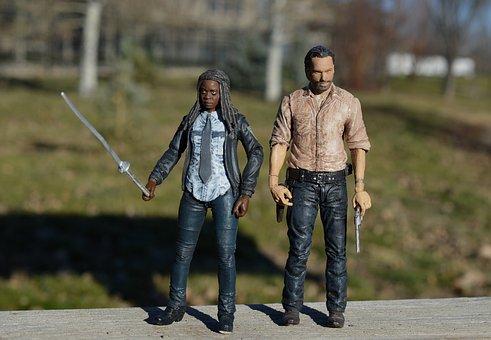 Walking Dead, Rick Grimes, Michonne, Sword