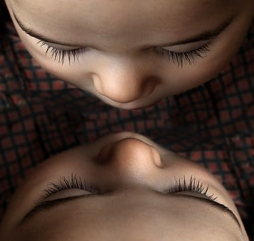 Baby, Young Child, Mirror Effect, Twins, Eyes, Toddler