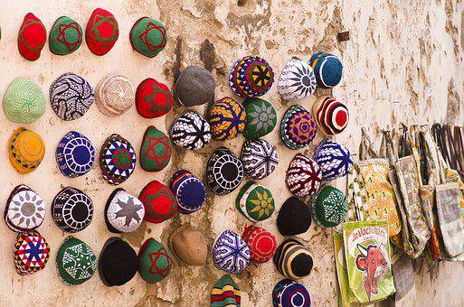 Headwear, Knitted, Morocco, Hats, Colorful