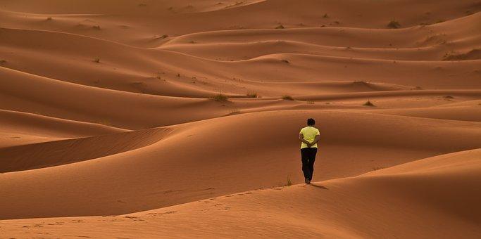Desert, Dunes, Sand, Red, Africa, Morocco, Sahara