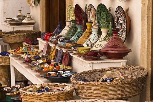 Tajine, Pottery, Colorful, Morocco
