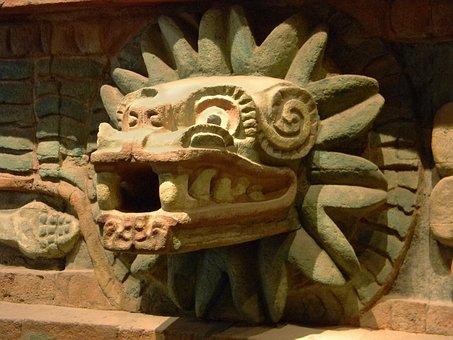Quetzalcoatl, God, Aztec, Mexico, Old, History, Museum