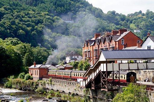 Llangollen, Wales, Building, Railway, Tourism, Welsh