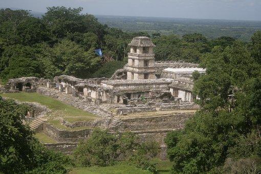 Palenque, Prehispanic, Mayan, Ruins, Mexico