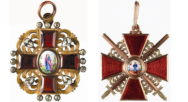 Russian Empire Order, Decoration, Cross, Crossed Swords