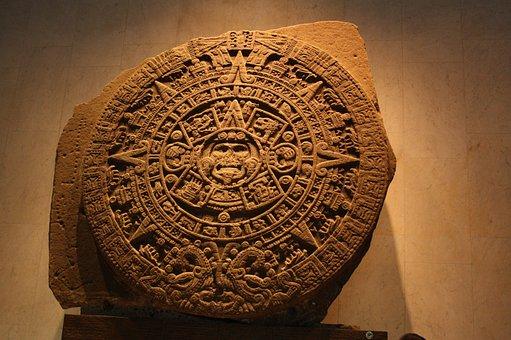 Aztec Calendar, Aztec, Sculpture, Mexico