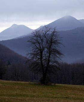 Slovakia, Jesen, Mountains, Vápeč, Homôlka