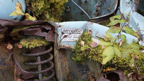 Scrap Metal, Rusty, Lorn, Mossy, Guide, Spring