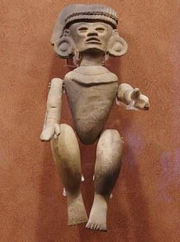 Mexico, Anthropological Museum, Statue, Columbian, Art