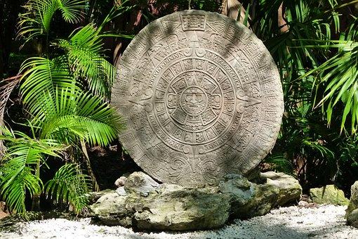 The Aztec Calendar, Mexico, Stone, Caribbean, Holiday