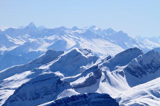 Mountains, Alpine, Switzerland, Snow, Summit Pyramid