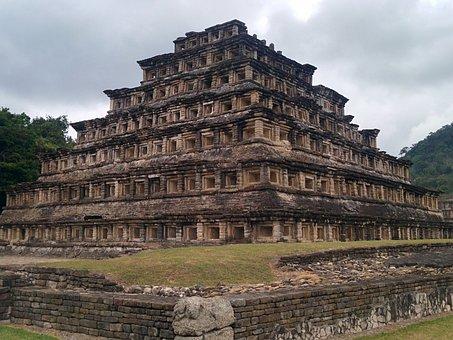 Tajin, Pyramid, Mexico, El Tajin, Mayan, Aztec, Inca