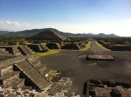 Teotihuacan, Mexico, Aztec, Pyramids