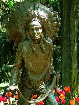 Statue, Native American, Indian, Park, Tribal, Culture