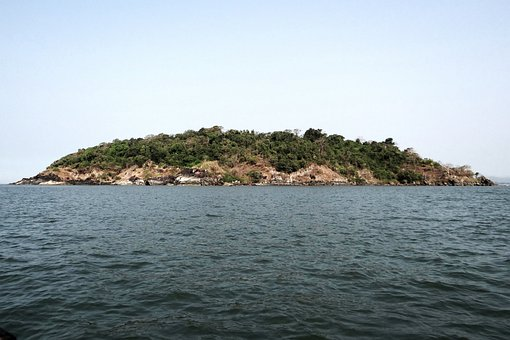 Kurumgad, Island, Small, Mound, Rocky, Vegetation