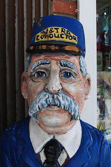Wood Faces, Train Conductor, Virginia City