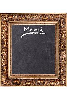 Frame, Board, Menu, Restaurant, Eat, Slate, Wood