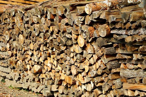 Woodpile, Logging, Wood-cutting, Forest, Wood, Mountain