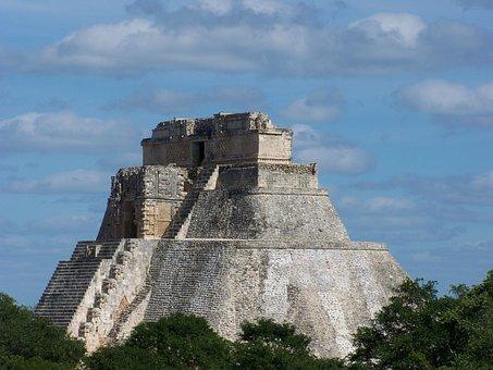 Temple, Maya, Pyramid, Yucatan, Mayan, Ancient, Mexico