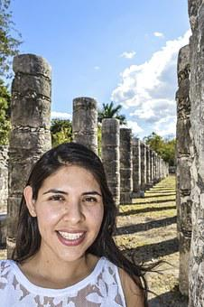 Women, Mexico, Chichen Itza, Yucatan, Maya, Weekend