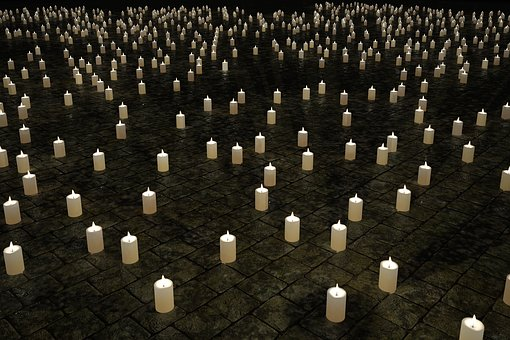 Candles, Mourning, Candlelight, 1000, Thousand