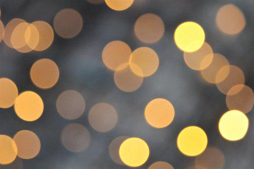 Yellow Lights, Decoration, Colorful, Christmas, Advent