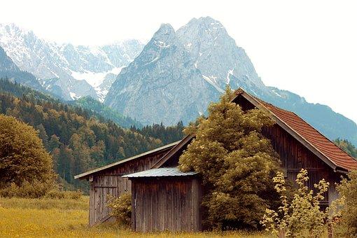 Hut, Log Cabin, Food Hut, Alpine Pointed, Alpine
