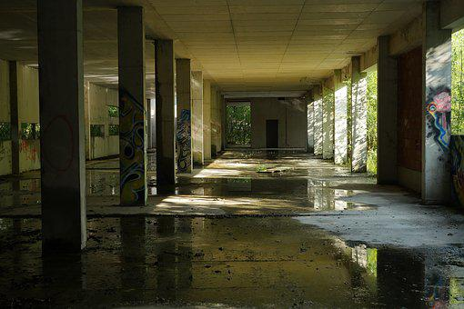 Pforphoto, Hall, Ruin, Atmosphere, Mood, Architecture