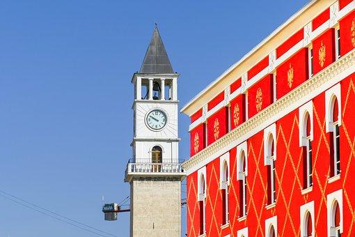 Tirana, Albania, Architecture, Building, Summer, Old