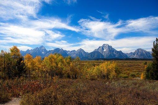 Autumn In The Tetons, Autumn, Grand, Teton, National