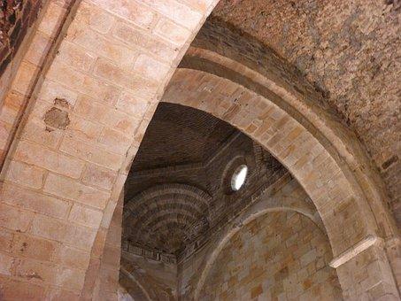 Navarre, Aralar, Church, Barrel Vault, Romanesque
