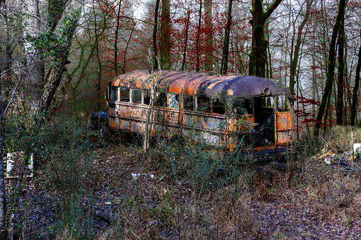 Lost Places, Old Bus, Ruin, Bus, Weathered, Empty