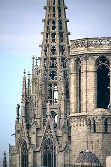Barcelona, Cathedral, Spain, Architecture, Catalonia