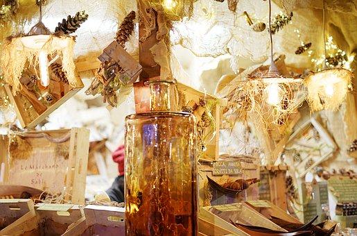 Christmas, Christmas Market, Christmas Stand, Lamps