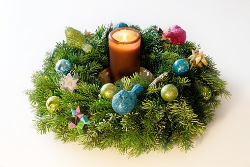 Advent Wreath, Candle, Christmas, Contemplative