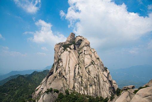 Mountain, Tianzhu Mountain, Cloud, Day, The Scenery