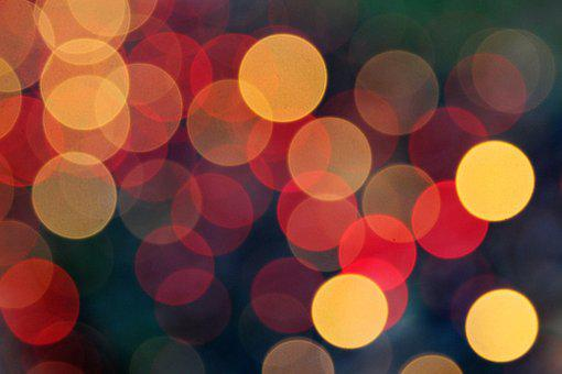 Yellow, Red, Lights, Decoration, Colorful, Christmas
