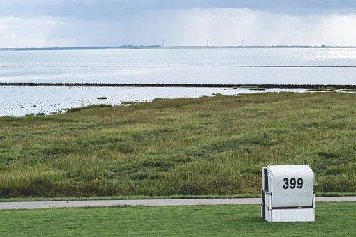 Sea, Beach, Beach Chair, Meadow, North Sea, Dam, Dike