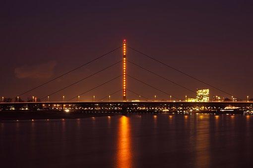 Bridge, Dusk, City, Sunset, Architecture, River