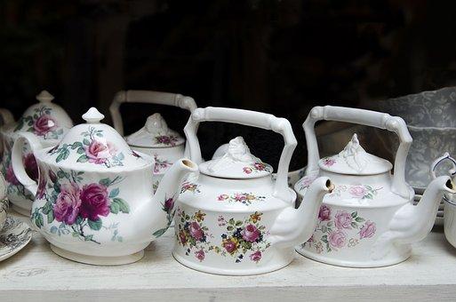 Teapots, Tea, Drink, Earthenware, Hot, Antique Dealer