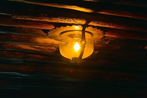 Old Faithful Inn Ceiling Light, Electric, Light