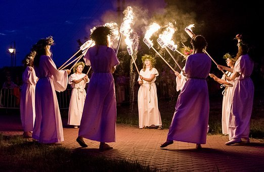 The Night Of Kupala, Fire, Dance, An Outbreak Of, Women