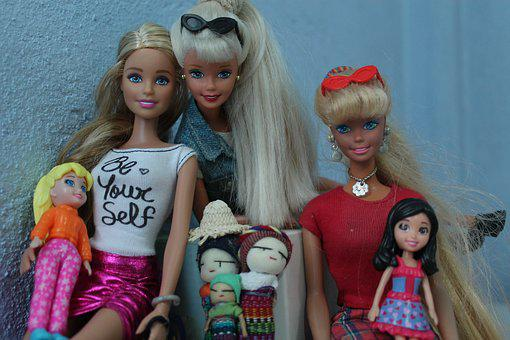 Dolls, Portrait, Play, Barbi, Friends, Beautiful